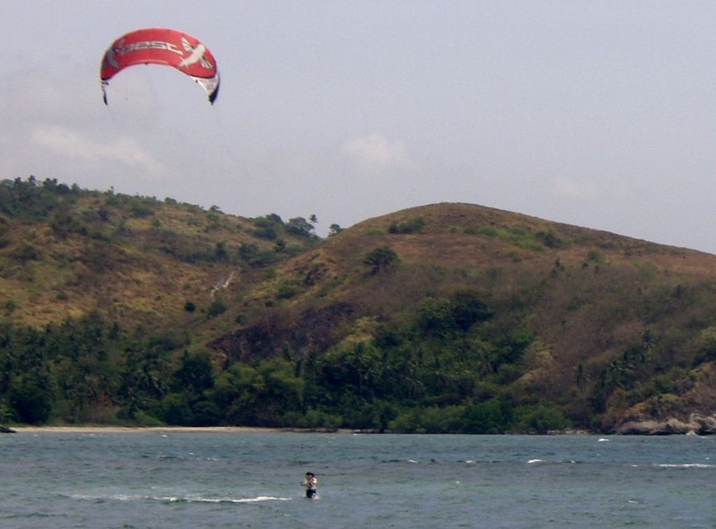 Amihan is kiteboarding time at Aglicay Beach